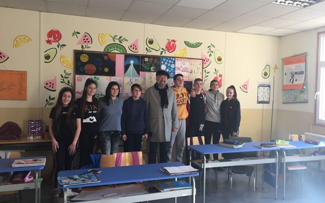 Вукашин Савић посетио је данас своју основну школу у Губеревцу